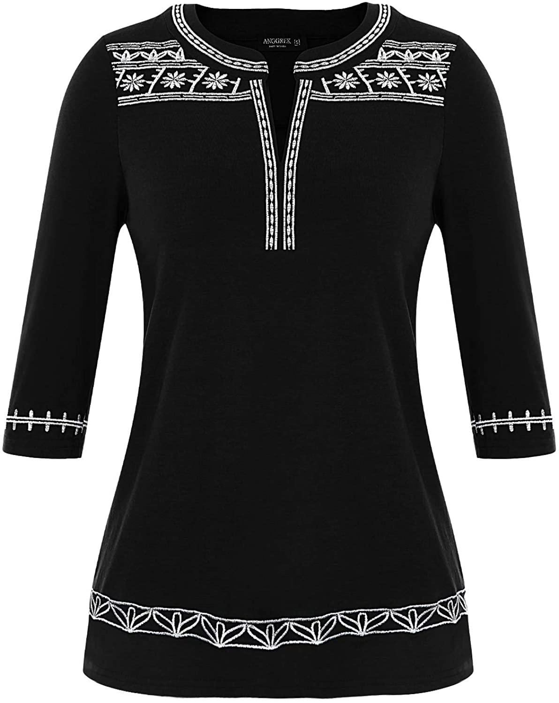 ANGGREK Women Tie Dye Graphic Tee Shirts Casual T-Shirt Round Neck Tee Bleach Print Top for Girl Teens
