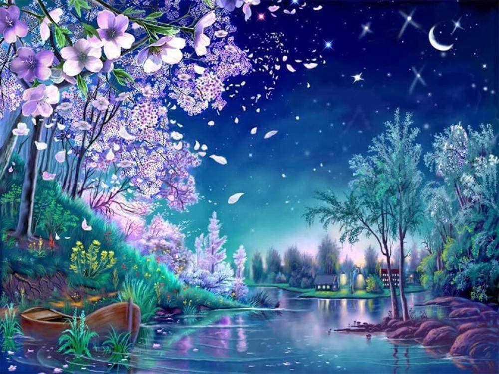 5D DIY Diamond Painting Cherry Blossom Home Decoration Cross Stitch kit Round Diamond Embroidery Craft Art Gift 30x40cm