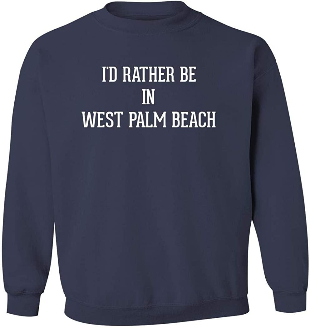 I'd Rather Be In WEST PALM BEACH - Men's Pullover Crewneck Sweatshirt