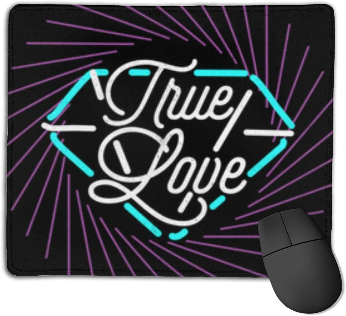 True Love Customized Designs Non-Slip Rubber Base Gaming Mouse Pads for Mac,22cm×18cm, Pc, Computers. Ideal for Working Or Game