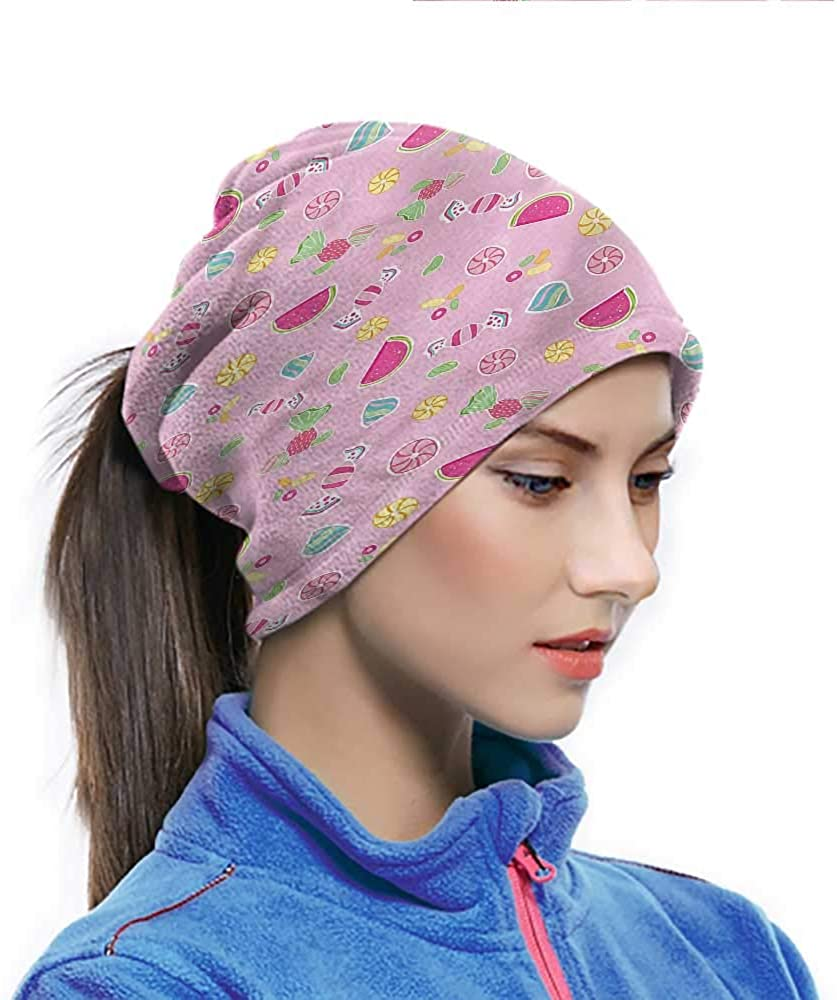 Face Cover Sweet, Creative Delicious Fruit Non Slip Face Scarf Face Dustproof Windproof UV Protection 10 x 11.6 Inch