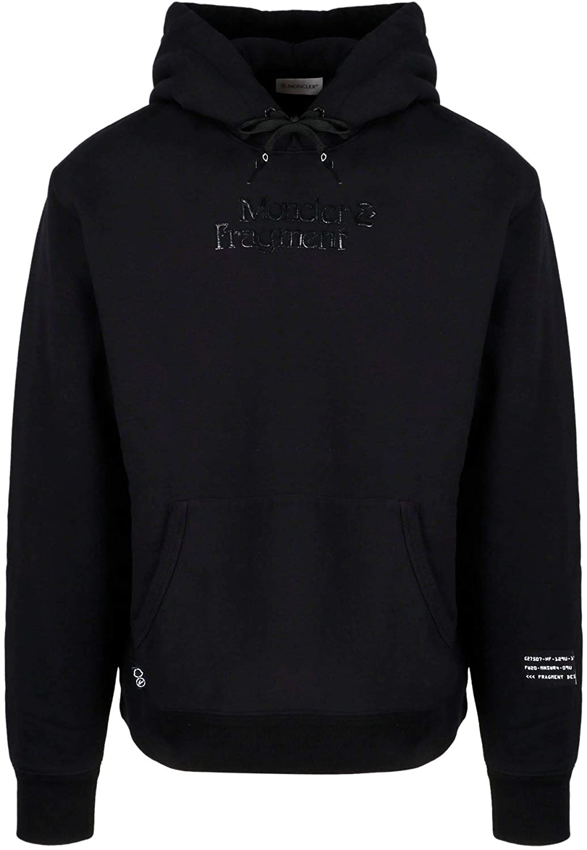 Moncler Luxury Fashion Man 8G70910809F4999 Black Cotton Sweatshirt   Fall Winter 20