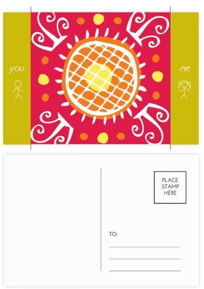 Sunflower Mexico Totems Ancient Civilization Friend Postcard Set Thanks Card Mailing Side 20pcs