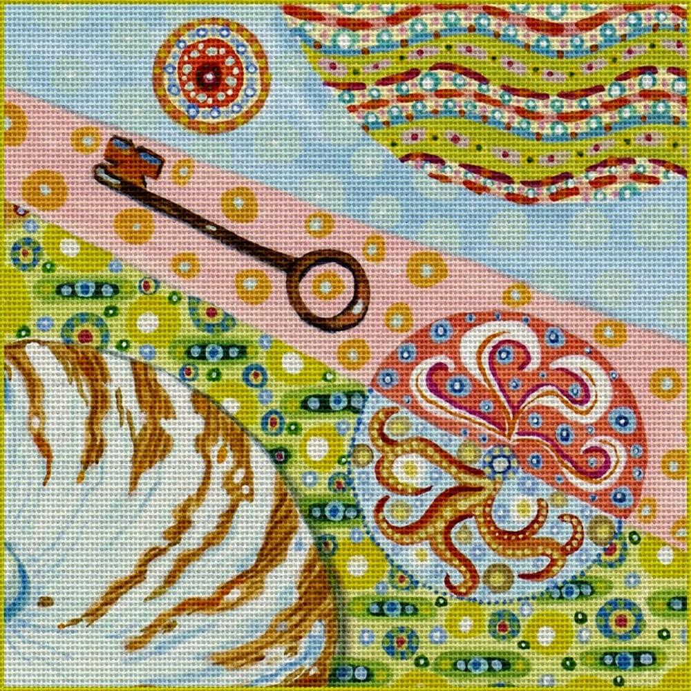 Art Needlepoint The Key Needlepoint Kit by Tina Close