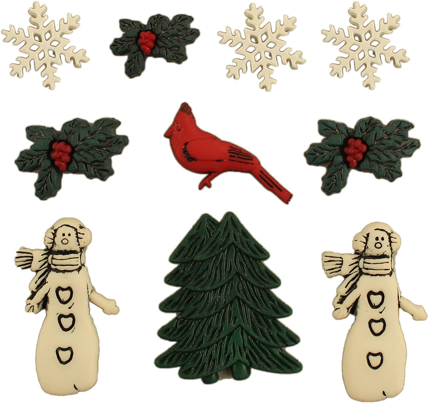 Buttons Galore Country Christmas Novelty Craft Buttons, 1x7.5x10 cm, Multicolor