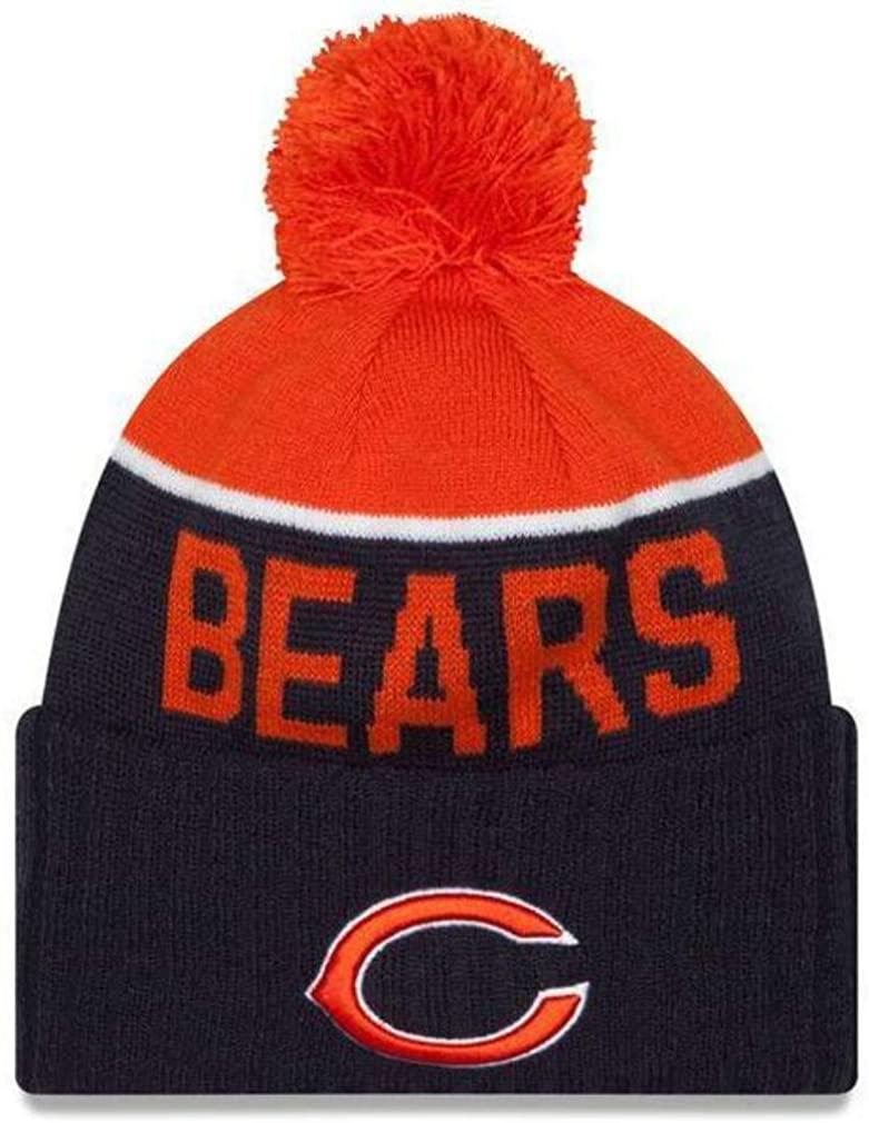 Chicago Bears C Logo New Era Knit Cuff Beanie Hat Cap - Team Colors