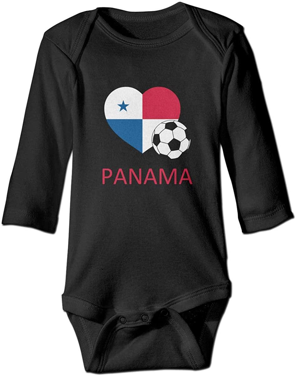 Love Panama Soccer Unisex Baby Bodysuit Infant Cotton Outfits Long Sleeve Jumpsuit
