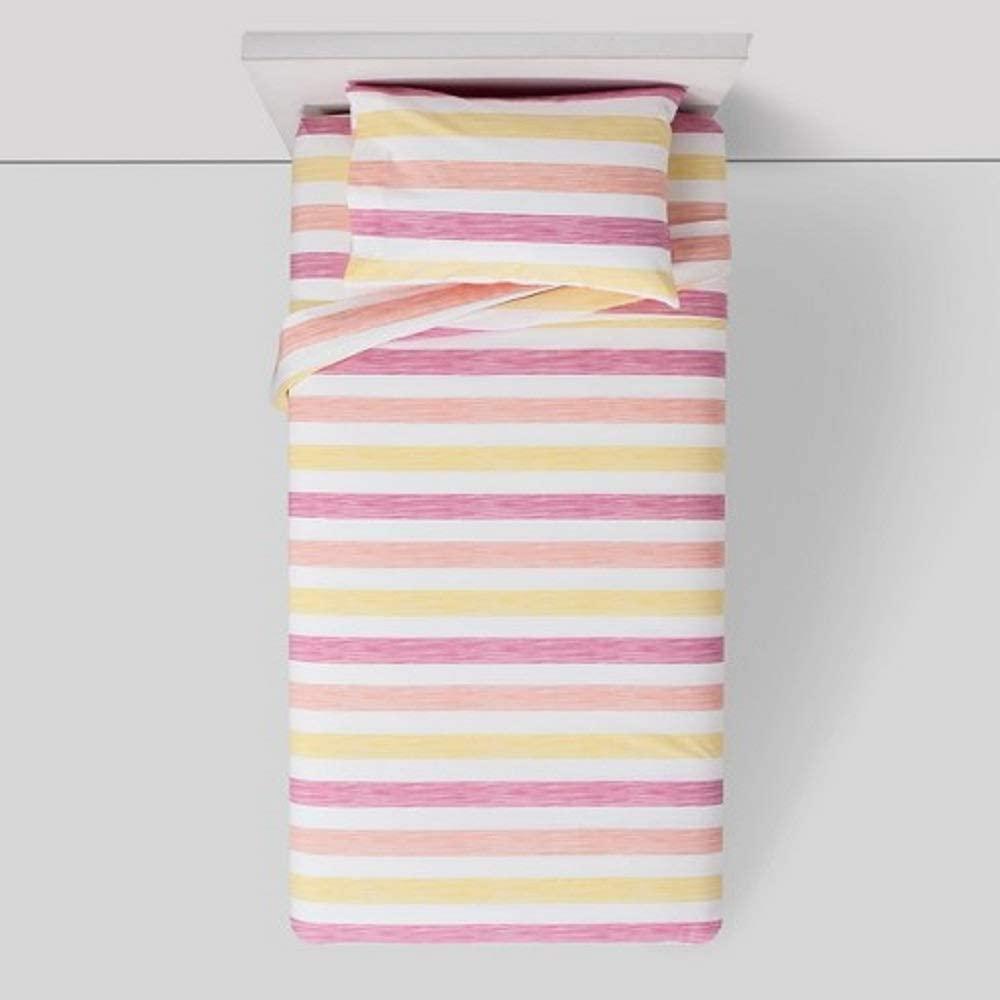 Pillowfort Ombre Rugby Toddler Sheet Set -Pink, Orange, Yellow