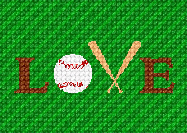 pepita Love Baseball Needlepoint Kit