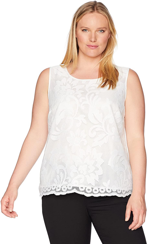 Kasper Women's Size Plus Floral Lace Detailed Cami