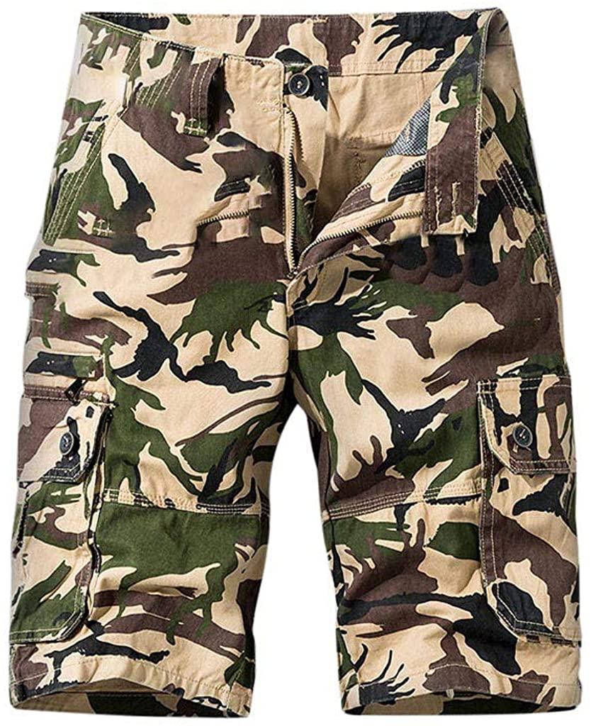 Mens's Cargo Shorts, Men's Plus Size Trousers Casual Short Pants Work Boardshorts