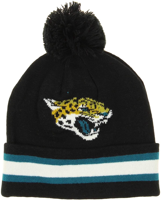 OuterStuff NFL Little Boys (4-7) Jacksonville Jaguars Cuffed Knit Hat, Black One Size (4-7)