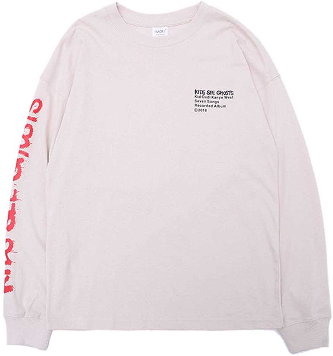 Kids See Ghosts Sweatshirt Hip Hop Graphic Sweatshirts Trendy Print Letter Cotton Crewneck Sweatshirt Hoodies
