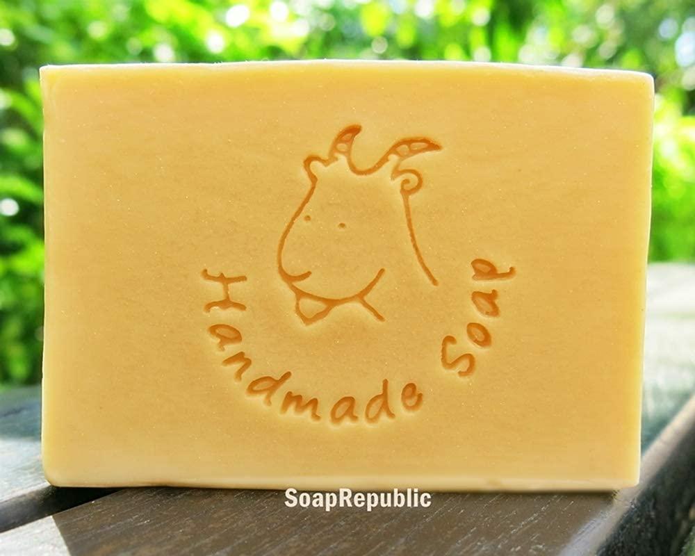 SoapRepublic Goat with Handmade Soap 40x39mm Acrylic Soap Stamps