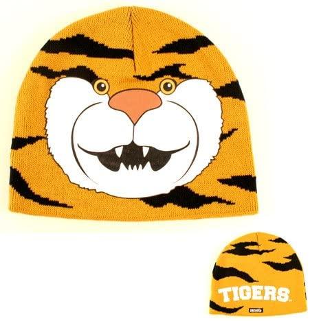 LSU Tigers Youth Cuffless Tigers Logo Knit Beanie Kids Hat Cap Huge Tigers Logo Boys And Girls