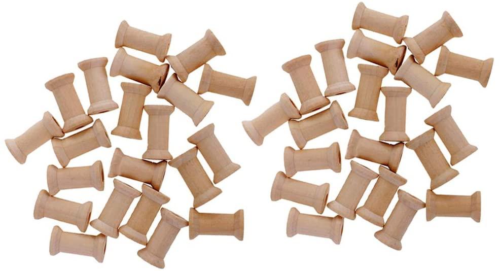 freneci 200Pcs Empty Thread Spools Reels Bobbin Sewing Craft Spool for Coils DIY