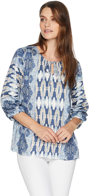 Tribal Women's 3/4 Sleeve Stretch Challis Printed Blouse
