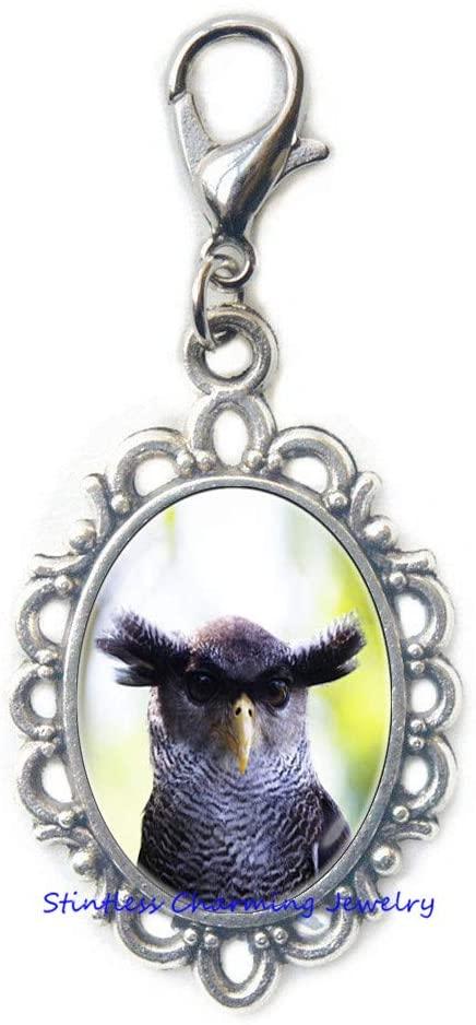 Eagle-owl Zipper Pull Bird Gift Owl Lobster Clasp Gift Bird Lobster Clasp Owl Jewelry Owl Jewellery Bird Jewelry Bird Zipper Pull Owl Gift Wild-JV85