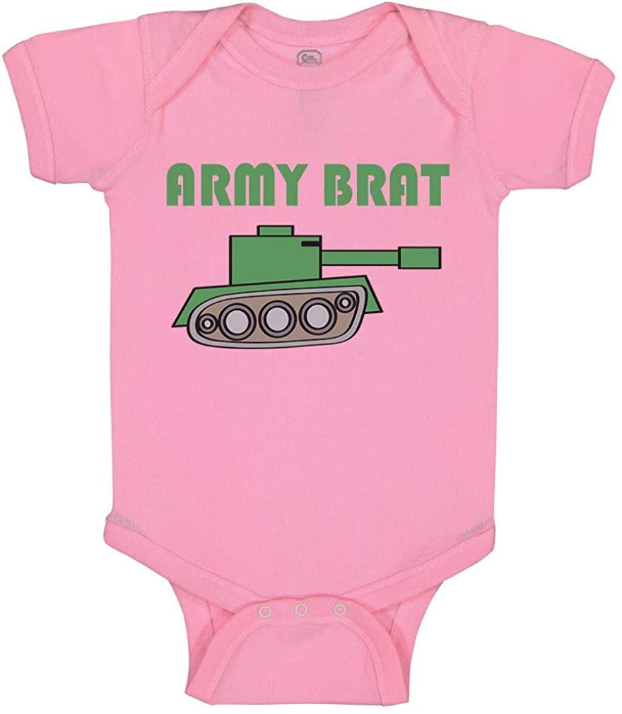 Custom Baby Bodysuit Army Brat Military Funny Cotton Boy & Girl Baby Clothes