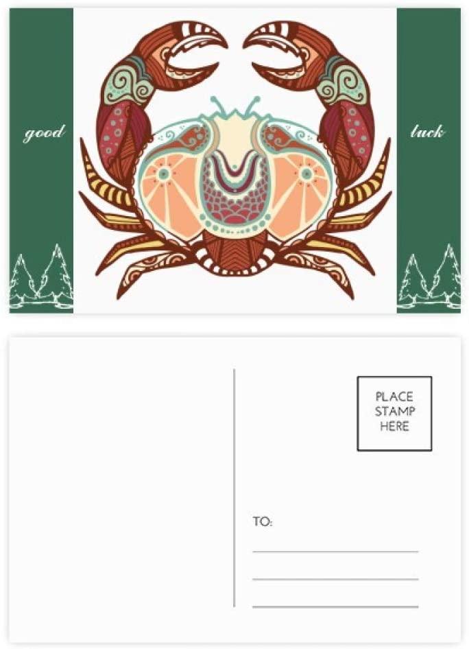 Cancer Constellation Zodiac Symbol Good Luck Postcard Set Card Mailing Side 20pcs