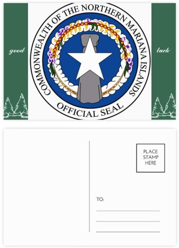Northern Mariana Islands National Emblem Good Luck Postcard Set Card Mailing Side 20pcs