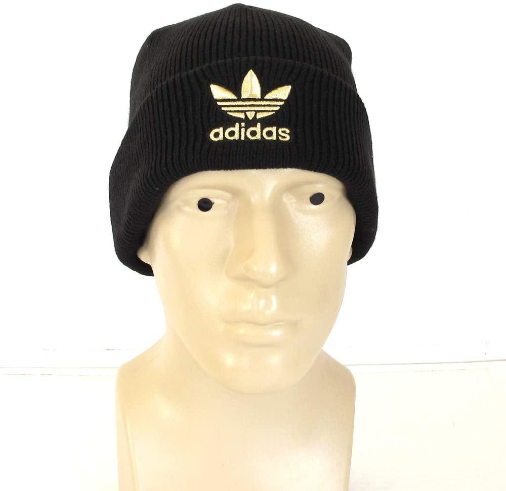 Beanie Acrylic Golden Embroidered Logo Brand Man Authentic Originals Hat