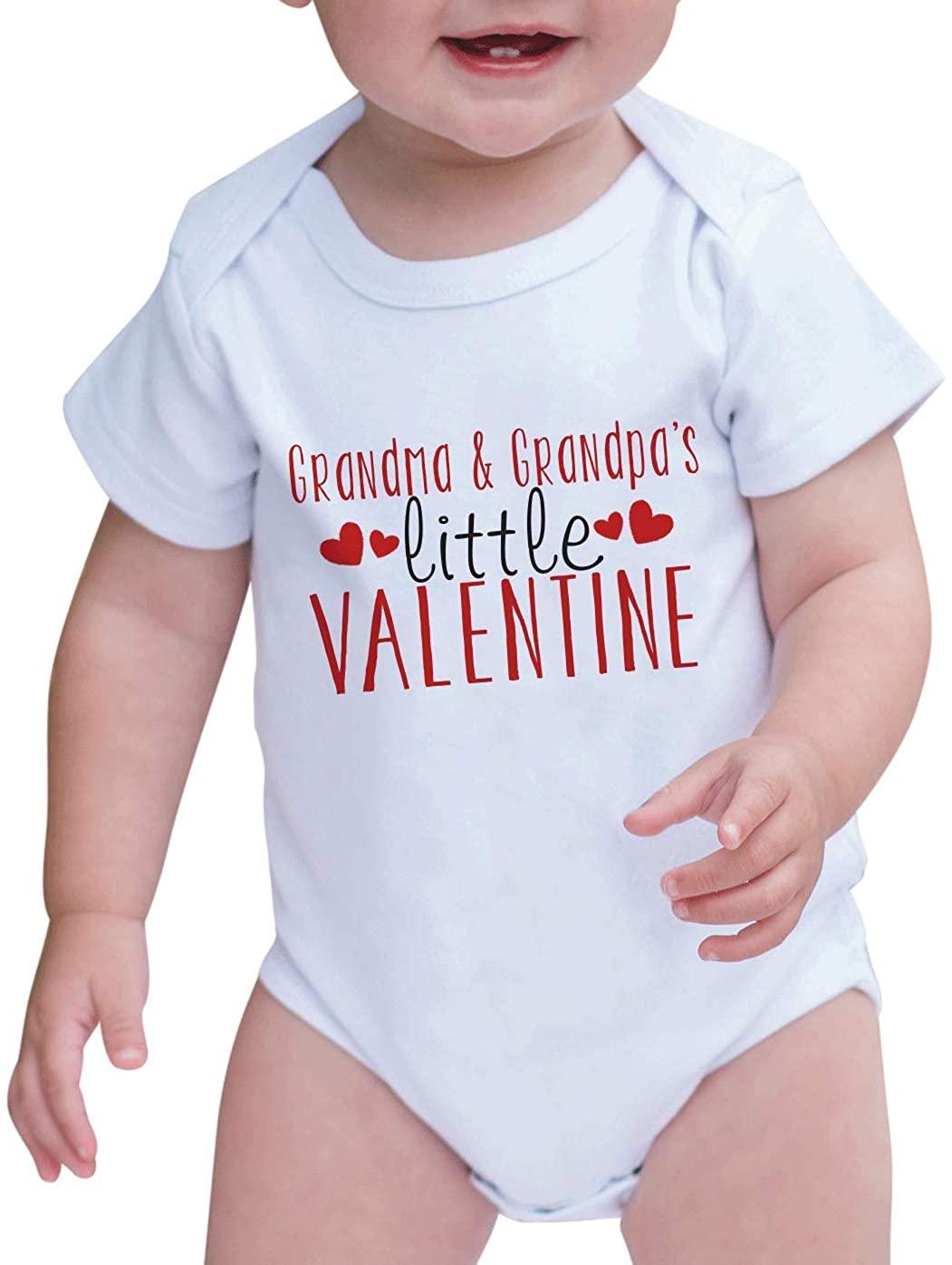 7 ate 9 Apparel Unisex Baby's Grandma & Grandpa's Valentine Onepiece