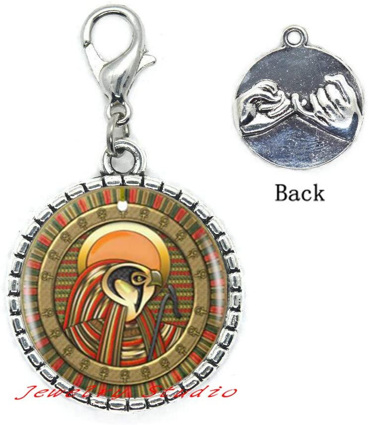 Eye of Ra Logo Lobster Clasp Zipper Pull Egyptian Sun God Symbol Handmade Zipper Pull Women Jewelry-HZ0268