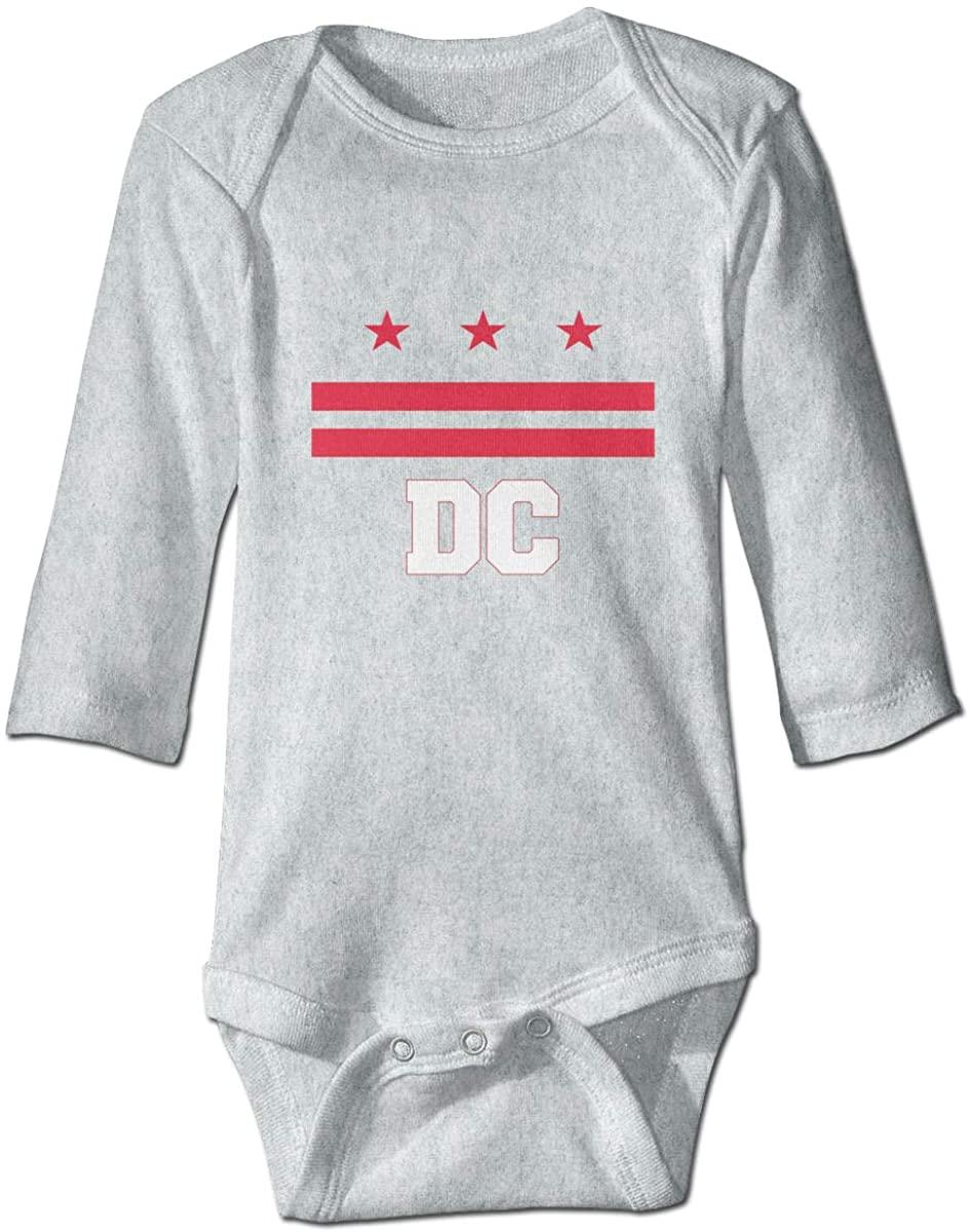 Washington DC Unisex Baby Bodysuit Infant Cotton Outfits Long Sleeve Jumpsuit
