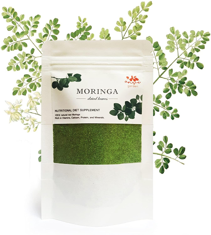 Anvi Garden Moringa Leaf Powder, Indonesia Equator Sunlight, 2.5 oz (70g)