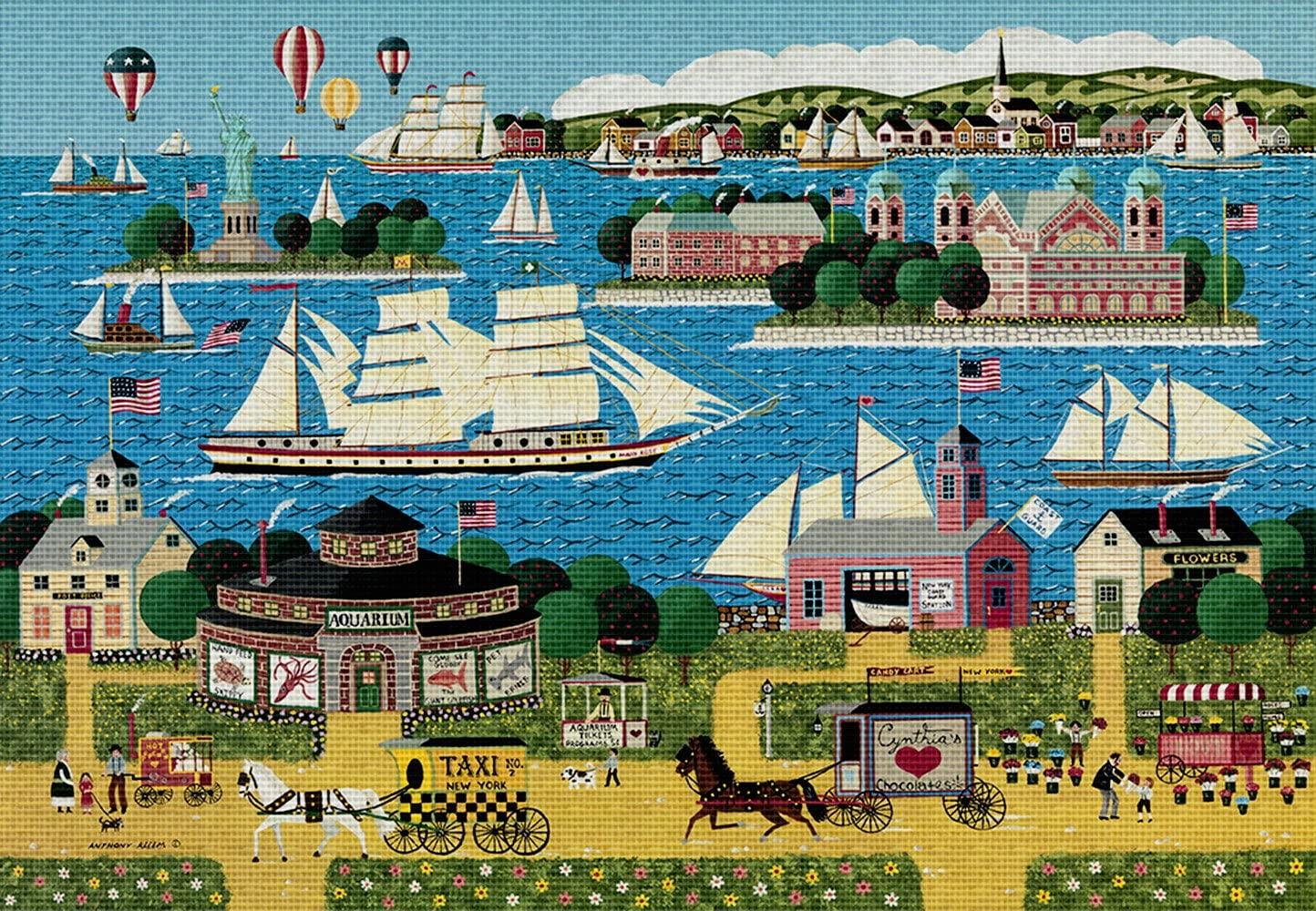 Art Needlepoint Harbor of Hope Classic Landscape Needlepoint Canvas by Anthony Kleem