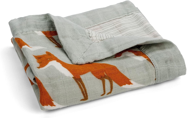 Milkbarn Muslin Mini Lovey Blanket (Fox)