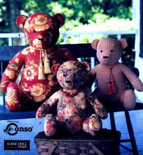Simplicity 9444 - 18-inch and 25-inch Sitting Bears - Patterns