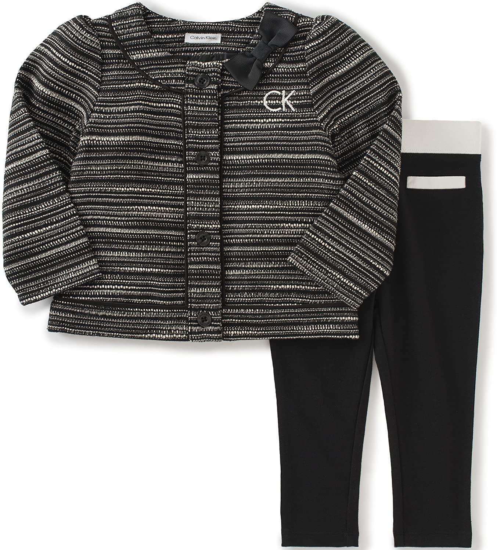 Calvin Klein Baby Girls' 2 Piece Jacket Pant Set