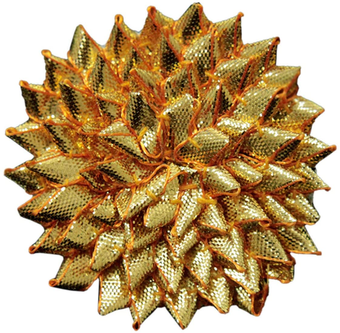 7 CM, 10 Pieces, Gota Flowers In Gold Color