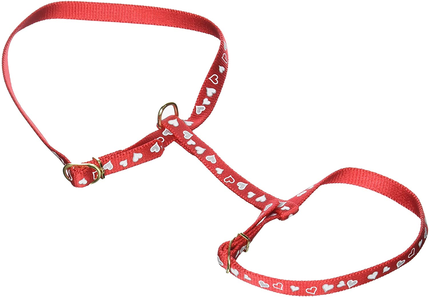 Zolux Cat Harness Reflective Heart Red 10mm