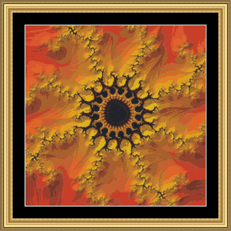 Fractal Art 209 Cross Stitch Pattern