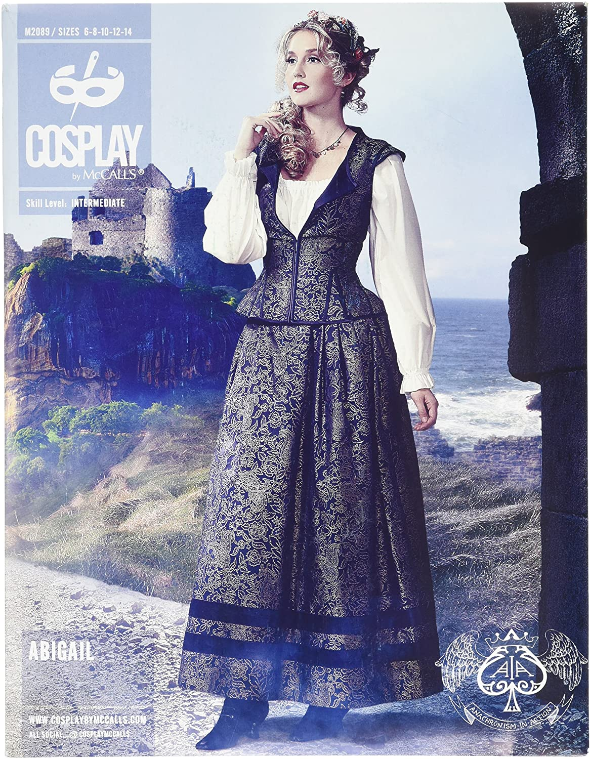 Cosplay By McCall's Abigail Vest/Skirt and Petticoat, Multi-Colour, Sizes 6-14