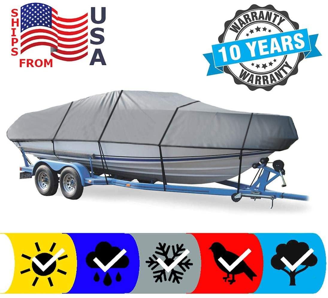 SBU Grey Boat Cover for Grady-White Boats 208 Adventure 1993 1994 1995 1996 1997 1998 1999, Trailering Storage Mooring