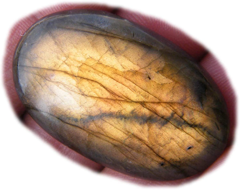 Surbhi Crafts Labradorite Cabochon,Natural Labradorite Gemstone,68Ct Oval Shape 40x24x7.5mm, K-17361