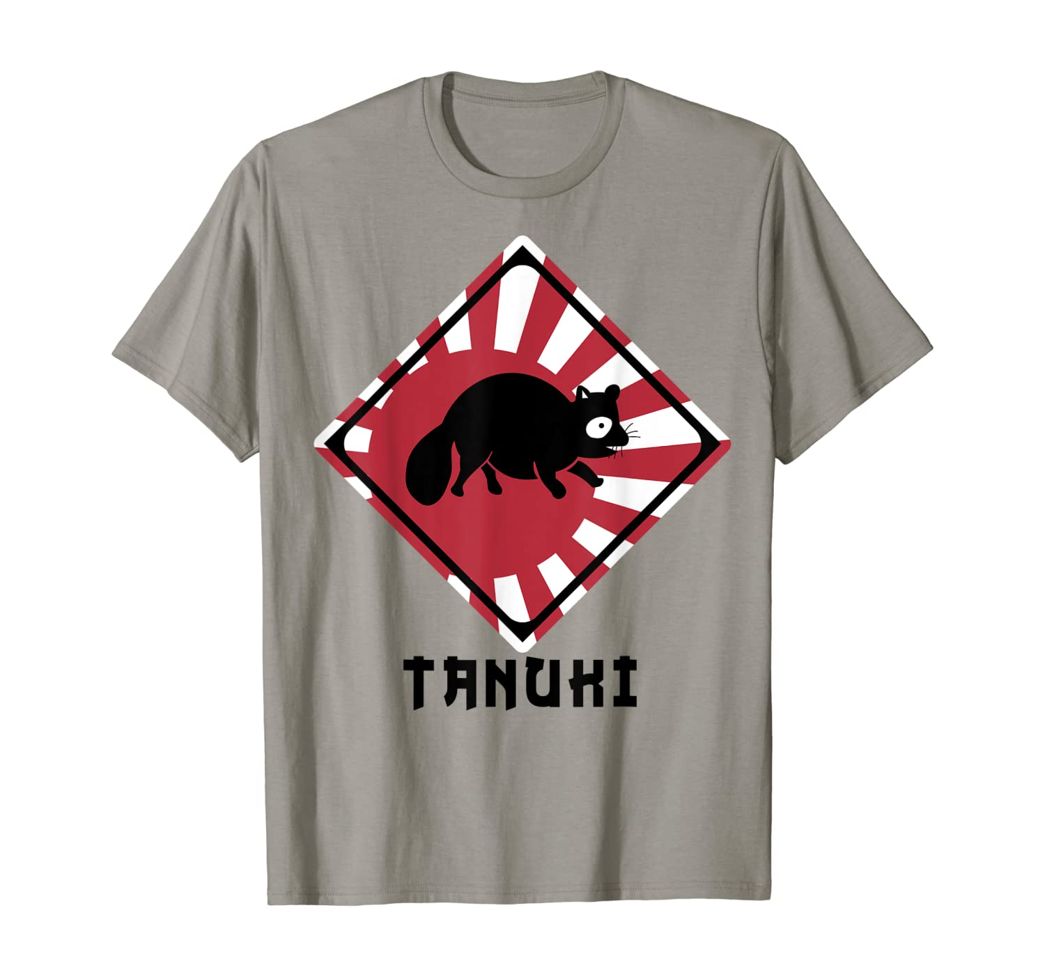 Raccoon Dog Tanuki Crossing Shirt (Japan Rising Sun Flag)
