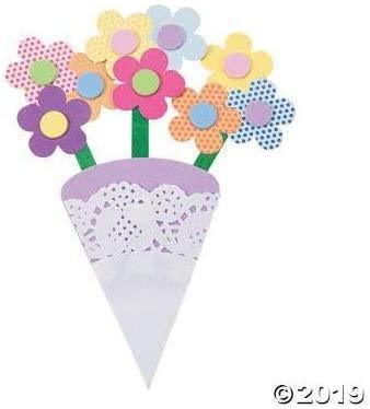 12 Spring Bouquet Paper Craft Kits~Childrens Arts & Crafts~School/After School Activity