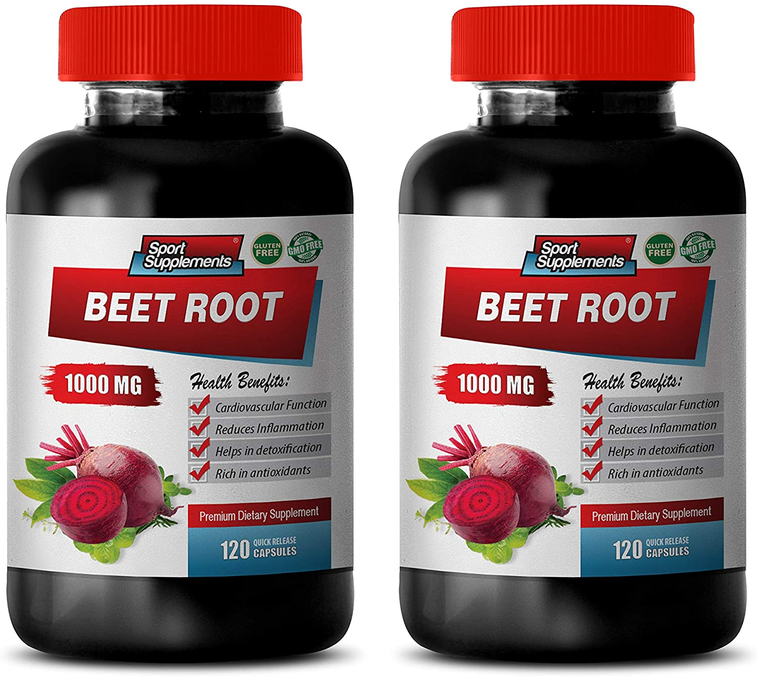 Immune System Booster for Women - Beet Root 1000MG - Best ANTIOXIDANTS - Vitamins and Minerals - Natural - Beet Root Organic Capsules - 2 Bottles (240 Capsules)