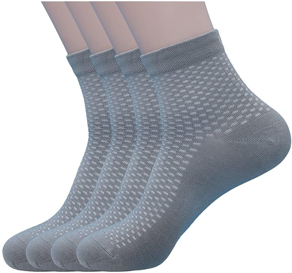 PEARL CARE Mens Pearl Fiber Small Check Casual Quarter Socks (Pack of 4)