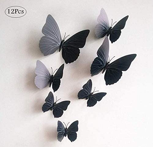 Cratone 3D Butterfly Stickers Craft Wall Sticker Elegant DIY Home Baby Room Wedding Decoration PVC 60 x 60 cm – Pack of 1 (A)
