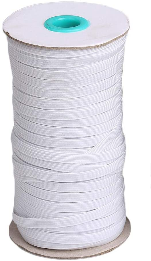 Qinlee High Elasticity Elastic Bands Knit Sewing Crafts DIY Ear Band Loop, Bedspread, Cuff, Rubber for with Nose Wire Bent Handmade Elastic Line