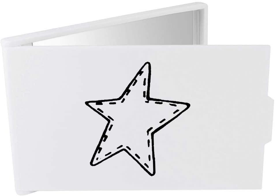 Azeeda 'Stitched Star' Compact / Travel / Pocket Makeup Mirror (CM00017296)