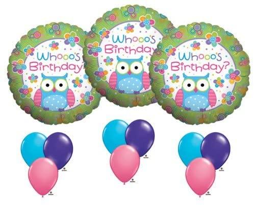 Hootie Cutie Owl Whooo's Birthday Balloon Party 18