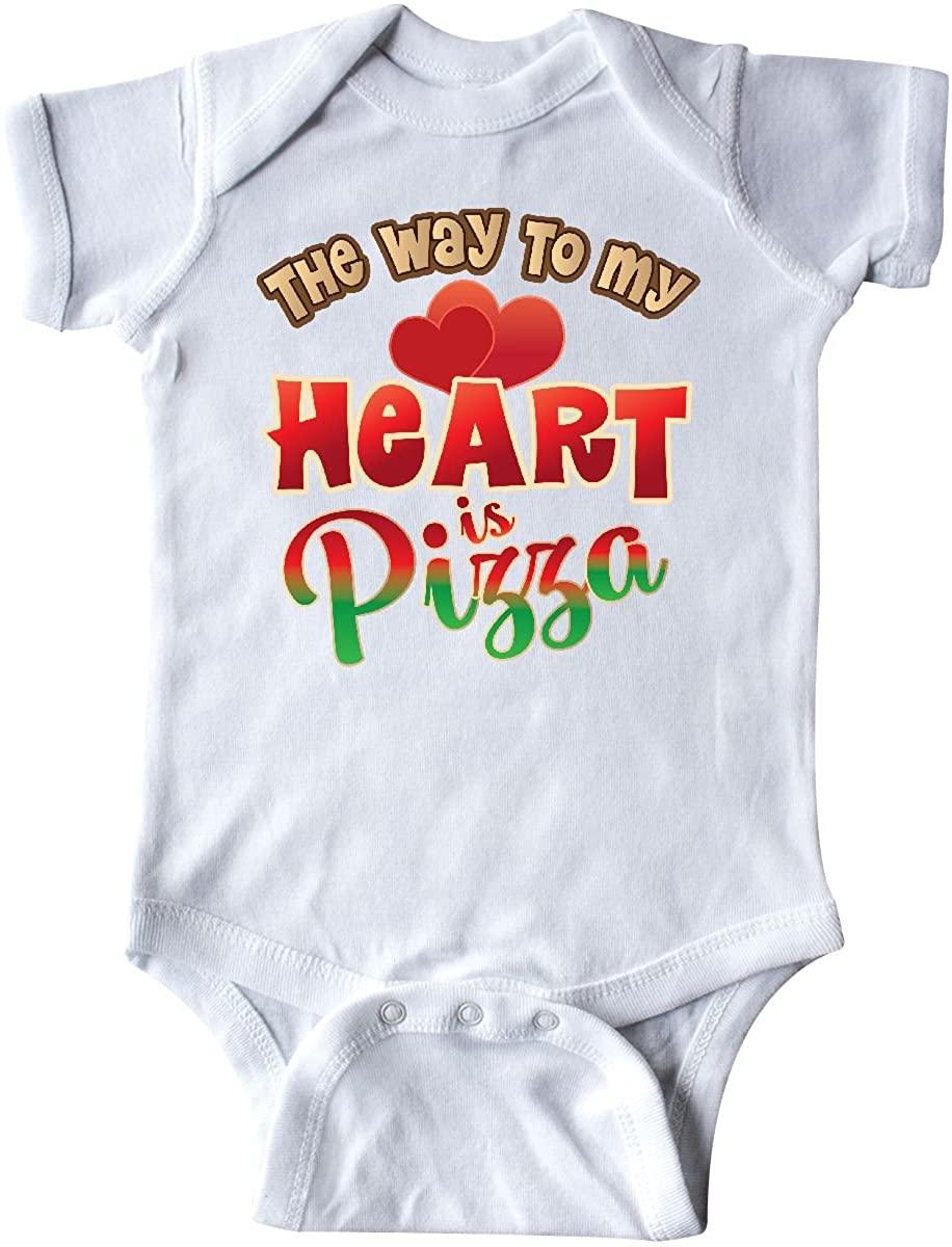 inktastic Pizza Way to My Heart Italian Food Infant Creeper