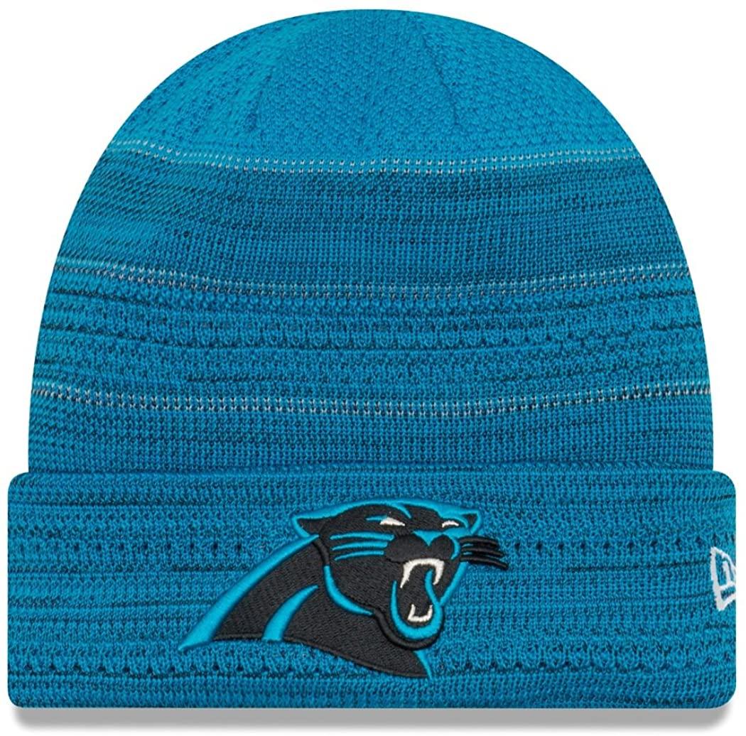 New Era Carolina Panthers 2017 NFL Sideline Cold Weather TD Knit Hat - Blue